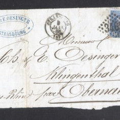 France 1866 Postal History Rare Front Cover 20 C NAPOLEON DB.243