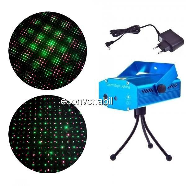 Laser Proiector Puncte Jocuri de Lumini Rosu Verde YX09