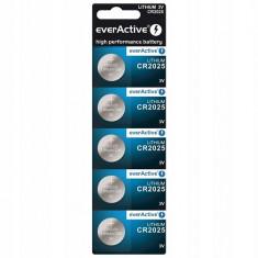 Baterii litiu CR2025 3V everActive 3V 5 Baterii /Set