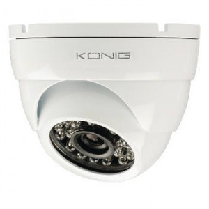 Camera de securitate tip Dome 700 TVL incl. cablu 20 m alb Konig