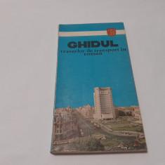 Ghidul traseelor de transport în comun 1982  BUCURESTI  RF17/1