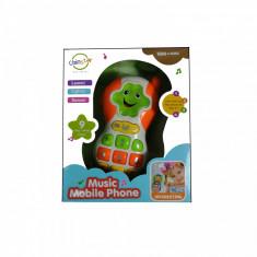 Telefon interactiv ChimStar cu sunete si lumini portocaliu 18m