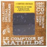 Tableta de ciocolata cu violete | Comptoir de Mathilde
