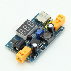 Sursa DC-DC Step Down LM2596 Intrare 3 - 40 V iesire 1.5V - 38V afisaj LED USB