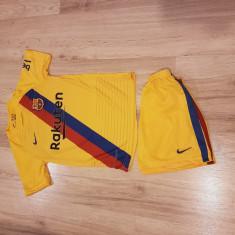 Echipament/compleu Fc Barcelona Messi copii 5-14 ani