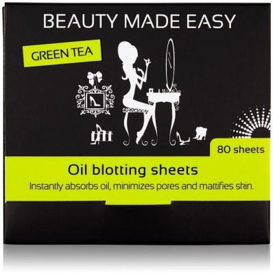 Foite matifiante, cu ceai verde, pentru ten, 80 buc, Beauty Made Easy foto