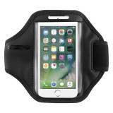 Husa ArmBand tip banderola brat pentru fitness, Iphone 7, negru, Gonga