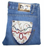 Blugi Barbati Jeans DOLCE & GABBANA - MARIME: 29 - (Talie = 76 CM), Lungi, Albastru, Dolce Gabanna