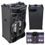 Cumpara ieftin Boxa portabila, 46 cm, iluminata, 450 W, negru