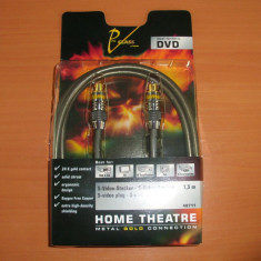 Cablu S-Video HAMA Pro Class Nou Desigilat 1.5m