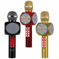 Microfon pentru Karaoke disco LED WS-1816 cu difuzor incorporat ,mp3,bluetooth