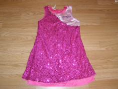 costum carnaval serbare rochie dans hannah montana pentru copii de 5-6-7 ani foto