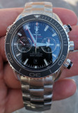 Omega Seamaster Planet Ocean Cronograf SWISS ETA Valjoux 7750 45 mm, Mecanic-Automatic