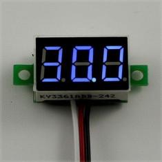 voltmetru digital DC 2.5-30V led albastru fosforescent
