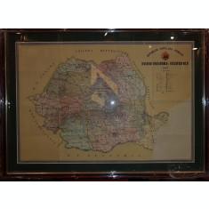HARTA, ROMANIA , REGIUNILE REPUBLICII POPULARE ROMANE, 1957