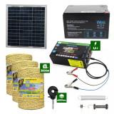 Pachetgard electric cuPanou solar 2,5Jputere și3000m Fir160Kgcu acumulator 12Ah