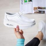 Pantofi dama piele casual dama albi Logema-rl