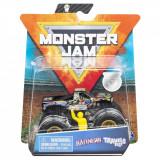 Masinuta Monster Jam, Scara 1:64, Badnews cu figurina, Negru