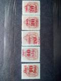 Vand serie de 5 timbre 1945 Romania Ardealul de Nord emisiunea Oradea