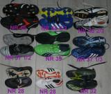 Adidas,Nike,ghete cu crampoane de fotbal marimea 28,32,37,39,46 si copii, 37 1/3, 37.5, Alb, Albastru, Gri, Negru, Verde