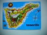HOPCT  74062   HARTA  TENERIFE  SPANIA-STAMPILOGRAFIE -CIRCULATA