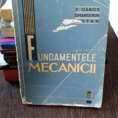 FUNDAMENTELE MECANICII - Z. GABOS
