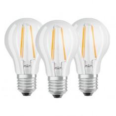 Set 3 becuri LED Osram E27 6.5W 4000K 470 lm A+ Lumina neutra