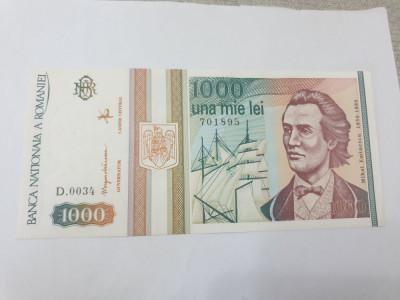 bancnota romania 1000 lei mai 1993 foto