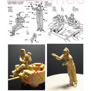 + 2 Figurine 1/35 Tamiya - Tanchisti germani si un catel +