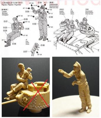 + 2 Figurine 1/35 Tamiya - Tanchisti germani si un catel + foto