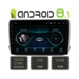Navigatie dedicata Peugeot 208/2008 Quad Core A-PSA cu Android Radio Bluetooth Internet 1+16GB CarStore Technology