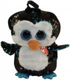Rucsac de plus cu paiete pinguinul Waddles Ty