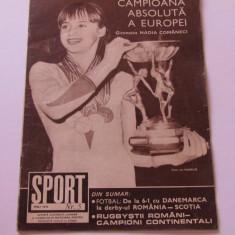 Revista SPORT-nr.5/05.1975(Nadia Comaneci, Romania)