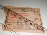 Cumpara ieftin BILET VECHI - TAXA FORFETARA 10 LEI