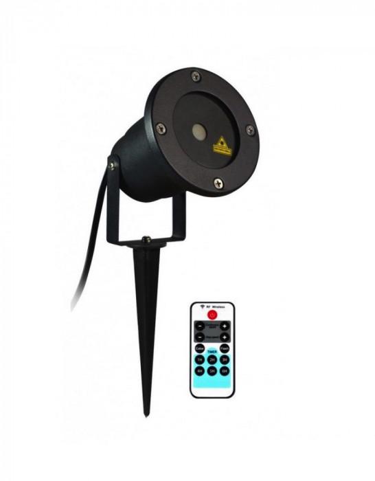 Proiector Laser, Metalic Pentru Exterior Cu Telecomanda, Temporizator si Jocuri De Lumini