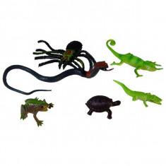 Jucarie Set Reptile din plastic cu sarpe si crocodil