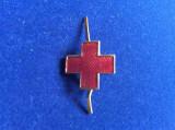 Insignă regalistă - Insignă România - Semn de armă - Crucea roșie