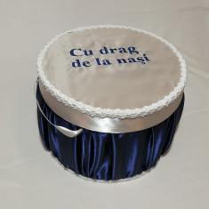 Cutie / cufar pentru trusou de botez NASI albastru / baieti