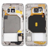 Carcasa mijloc cu geam camera / blitz , Samsung Galaxy S6 edge+ G928 Argintiu Orig Swap B
