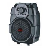 Boxa portabila Akai, 10 W, tuner FM, afisajj LED, USB, intrare microfon, functie karaoke