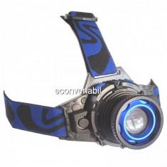 Lanterna Frontala Metalica LED 3W Acumulator si Zoom MXK16