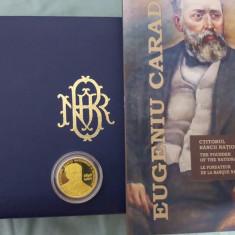 Monedă BNR,aur,Eugeniu Carada – ctitorul Băncii Naţionale a României
