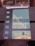 CAIET DE DOCUMENTARE CINEMATOGRAFICA NR.8/1963
