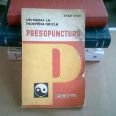 PRESOPUNCTURA - SABIN IVAN