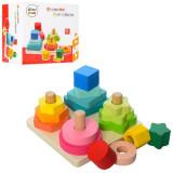 Piramida Montessori 4 in 1 Turnul Formelor.