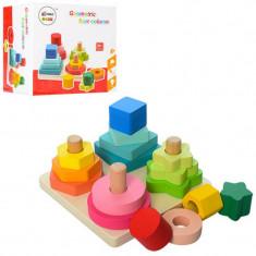 Piramida Montessori 4 in 1 Turnul Formelor