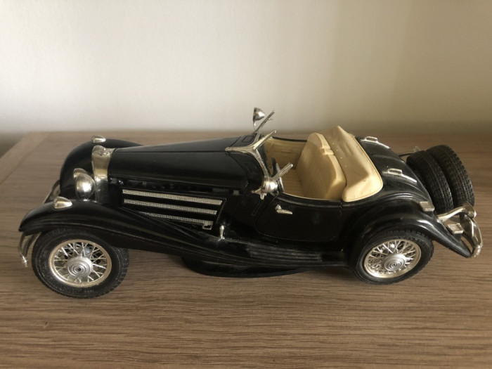 Macheta veche metalica,Mercedes Benz 500 K Roadster