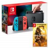 Consola Nintendo Switch Neon + joc Mortal Kombat 11