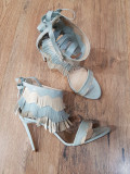 Superbe sandale elegante dama noi piele naturala integral 37, Multicolor