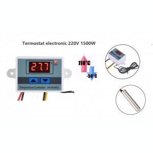 Termostat electronic digital Controler temperatura cu releu 220V 10A